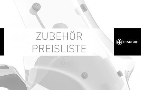 thumbnail of Zubehör Preisliste Katalog Piaggio 2014