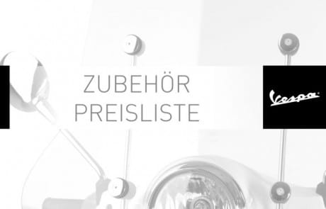 thumbnail of Zubehör Preisliste Katalog Vespa 2014