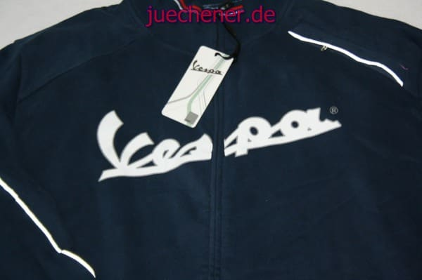 vespa herren sweatshirt jacke reflex blau gr e xxxl. Black Bedroom Furniture Sets. Home Design Ideas