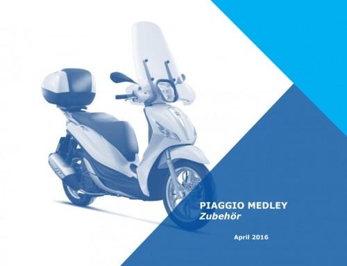 Preisliste Piaggio Medley Zubehör